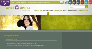 $150 donation made to Hope House by Chloe & Isabel by Suz. Click image to view larger version.